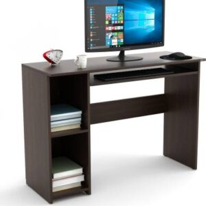 Europa PC table with open storage & keyboard drawer