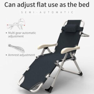 Portable Adjustable Steel Recliner Chair/Bed for Beach, Camping, Outdoor & Picnic, (Color Mineral Gray)